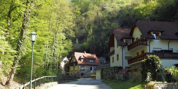 Start der Tour, Mieslingtal