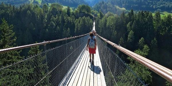 Über die Goms Bridge hinüber nach Mühlebach.
