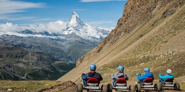 Vous pourrez profiter d'un panorama montagnard unique avec le Cervin.