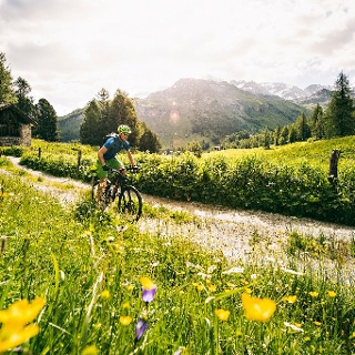 Mountainbike Sils, Val Fex