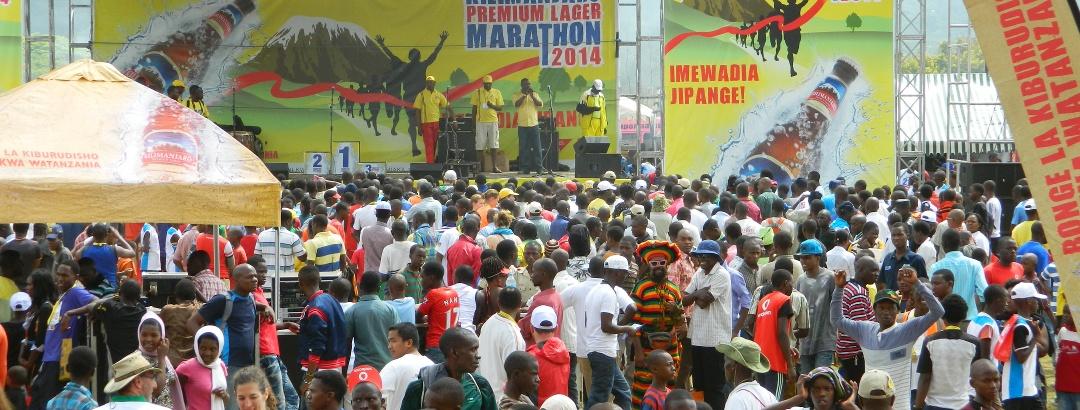 Siegerehrung nach dem Kilimanjaro Marathon 2014 in Moshi
