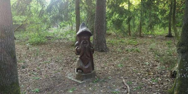 Ein Männlein steht im Walde - am Start der Tour