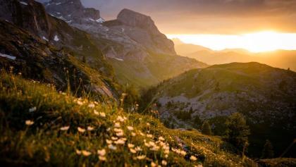 Coucher du soleil au col de Sanetsch.