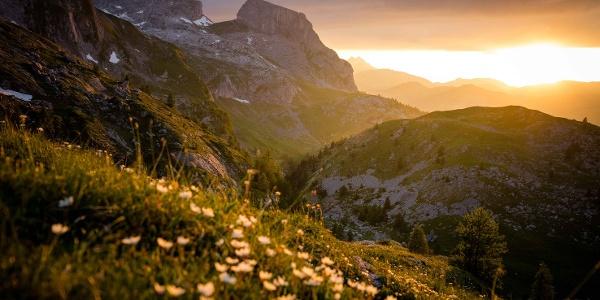 Sonnenuntergang am Sanetschpass.