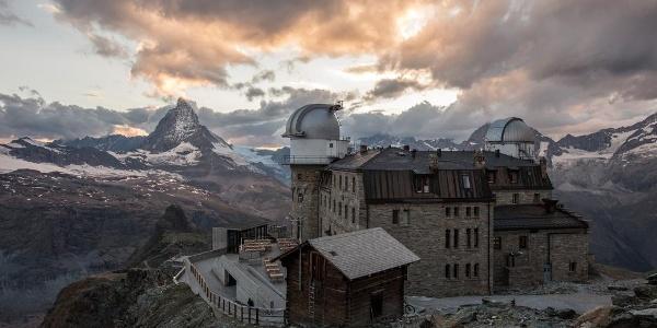 Impressive scenic panorama around the Gornergrat