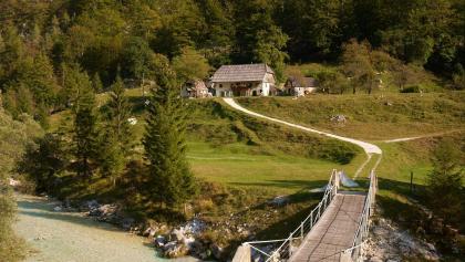 Brücke über die Soča