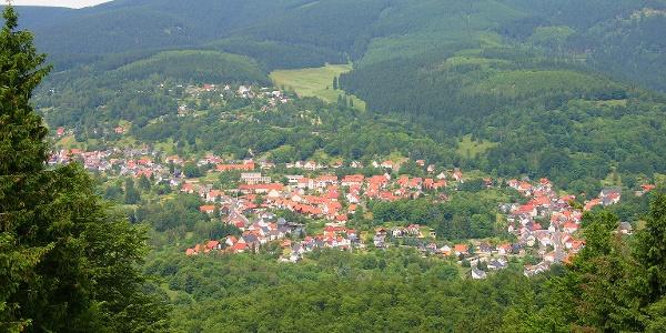 Blick auf Goldlauter vom Salzberg