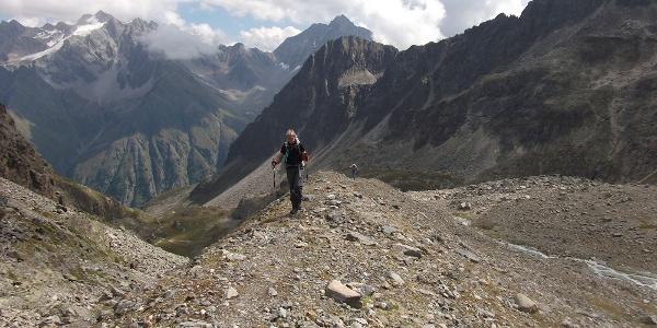 Tag 2: Höhenweg zwischen Mittelberglessee und Verpeiljoch