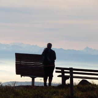 Enjoy views to the Swiss Alps