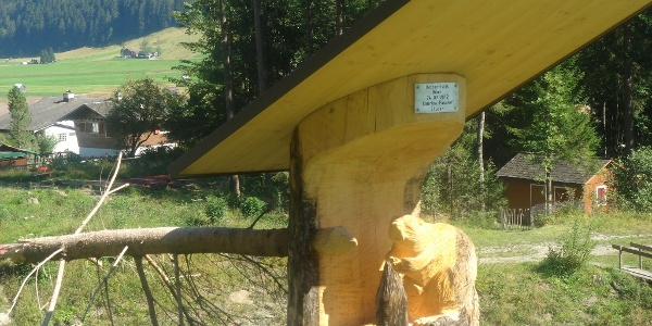Holzskulptur Biber