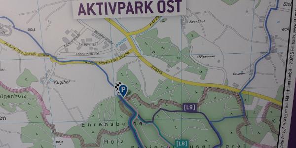 Wanderwege im Aktivpark Ost von Pfaffenhofen an der Ilm