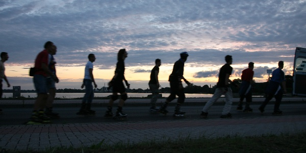 Skater am Wilhelmshavener Südstrand