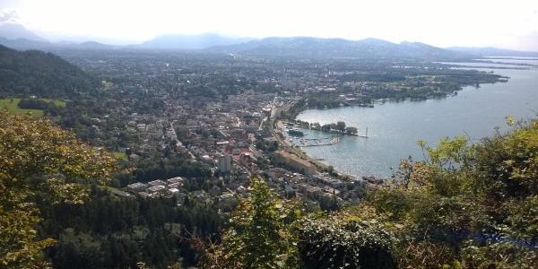 Ausblick vom Gastgarten Seibl, Haggen, Lochau