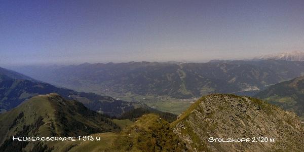 Panorama Richtung Mittersill - Stolzkopf und Heubergscharte