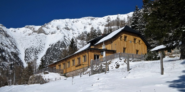 Das Waxriegelhaus im Winter