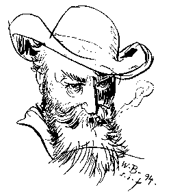 Wilhelm Busch, Selbstporträt 1894