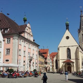 Start- und Endpunkt der Gartenschauwanderung: Rottenburger Marktplatz