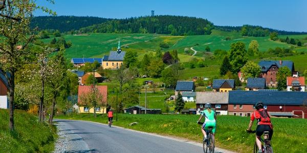 Radfahrer Buchenstraße Hinterhermsdorf
