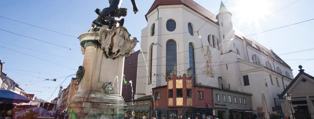 Stadtansicht von Augsburg.
