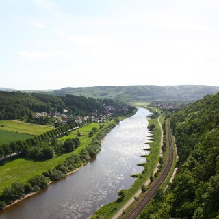Die Weser bei Gieselwerder