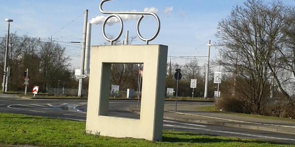 Karl-Drais-Denkmal am Karlsplatz