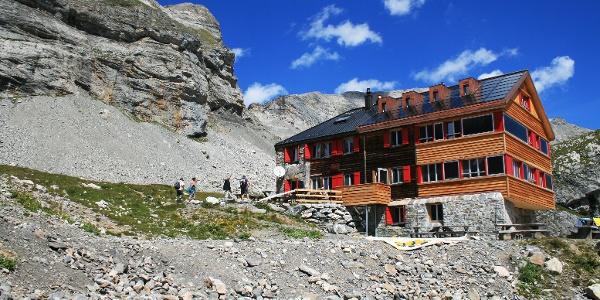 Neu renovierte Lämmerenhütte SAC.