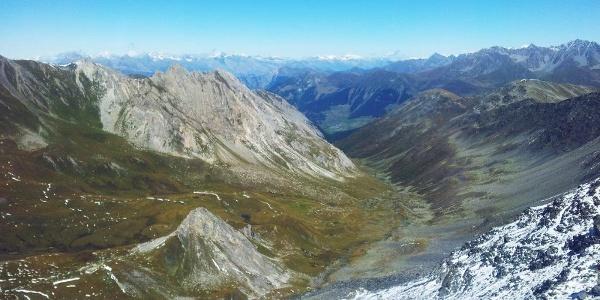 Ausblick auf das Tal «Combe de l'A»