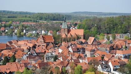 Blick auf die Altstadt der Eulenspiegelstadt Mölln