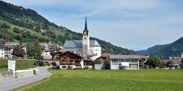 Ansicht Dorf Trun