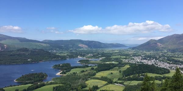 Aerial views of Keswick