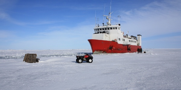 M/S Eivor. Visiting the outer archipelago can be a real adventure in winter!