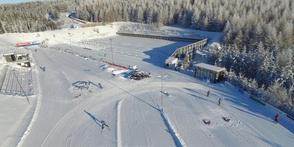 Biathlon Sparkassen-Arena Altenberg von oben
