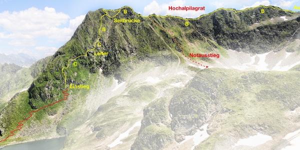 Klettersteig Hochjoch Variante 1
