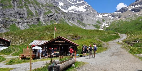Buvette «Chalbärtreichi» à l'alpage de Flüe