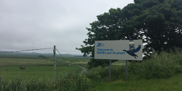RSPB Visitor Centre entrance signpost