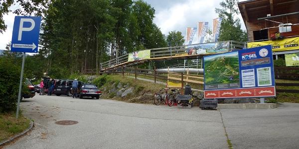 Parkplatz bei Talstation Sessellift und Abenteuerberg Wurbauerkogel