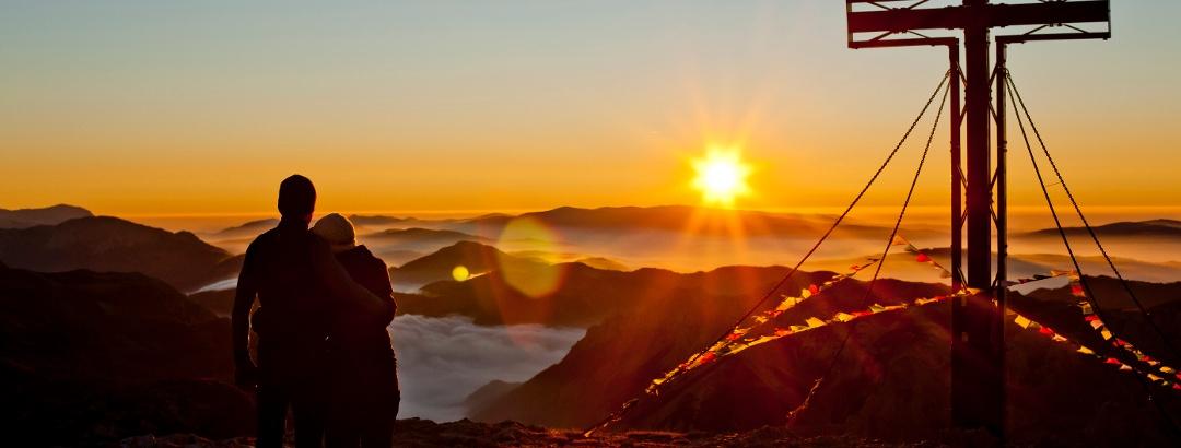 Sonnenaufgang am Hochschwabgipfel