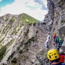 Stau im Klettersteig