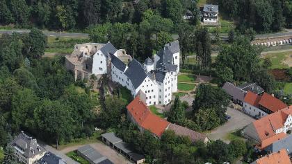 Luftaufnahme Schloss Lauenstein