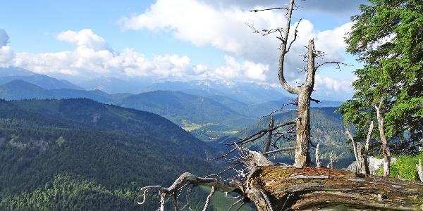 Blick in die Jachenau und ins Karwendelgebirge