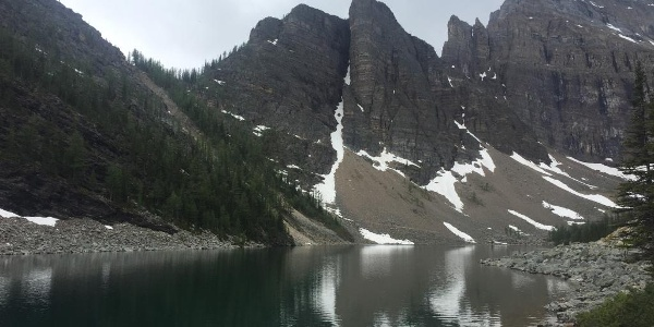 The view over Lake Agnes