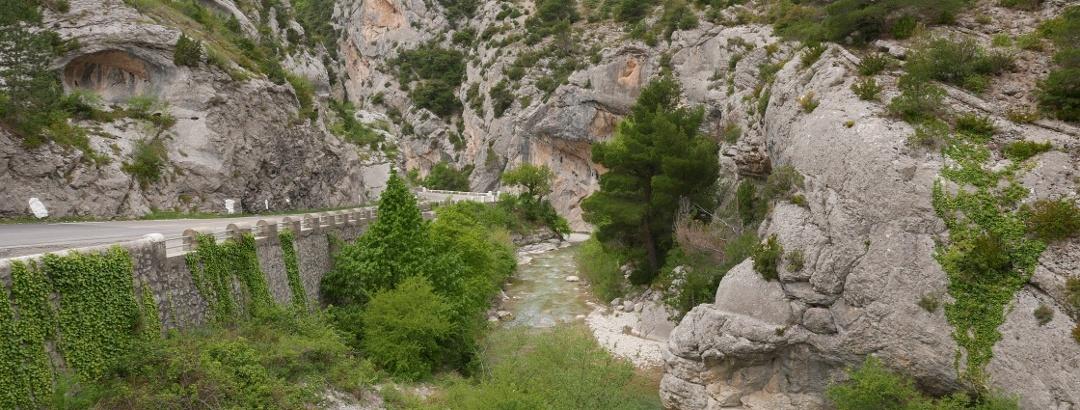 Gorges d'Ubrieux von Osten