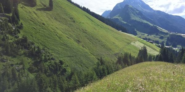 Contour path near Warth