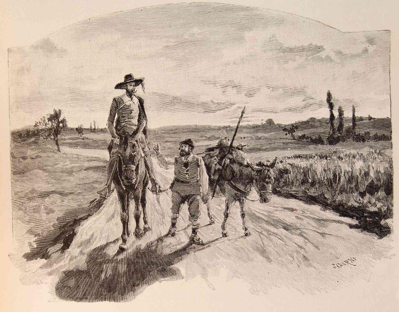 Don Quijote und sein Gefährte Sancho Panza