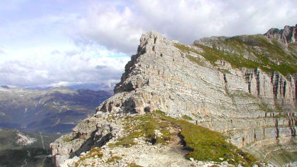 Passaggio in cresta sul Sentiero Vidi
