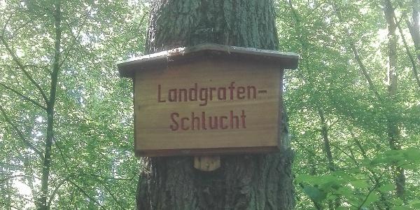 Beginn der Landgrafenschlucht bei Eisenach