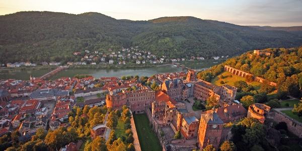 Blick auf Heidelberg aus einem Ballon