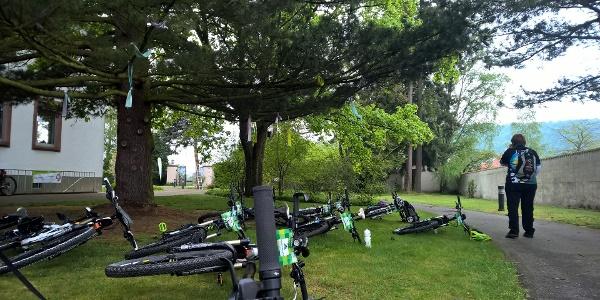 Bikes im Garten