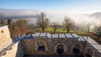 Ausblick von der Burgruine Kastelen