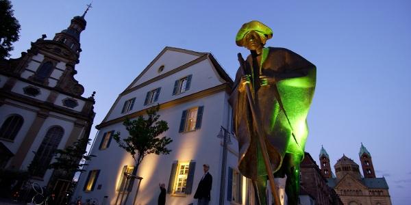 Pilgerstatue am Dom Speyer